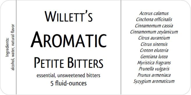 Willett's Aromatic Bitters