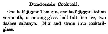 1895 - Kappeler - Dundorado Cocktail