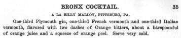 1908 - Boothby - Bronx Cocktail