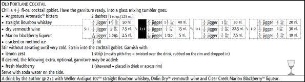 Old Portland Cocktail recipe