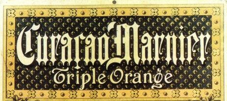 Curaçao Marnier Triple Orange detail